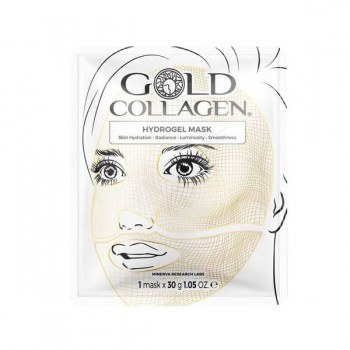 gold collagen hydrogel mask 4 mascaras